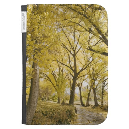 Path in woods, Sugarhouse Park, Salt Lake City Kindle Keyboard Case