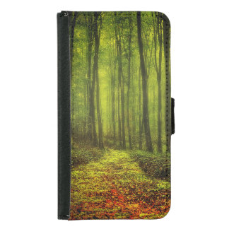 Path In Woods Wallet Phone Case For Samsung Galaxy S5