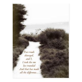 Path Less Traveled : Postcard