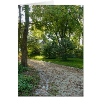 Path less traveled stationery note card