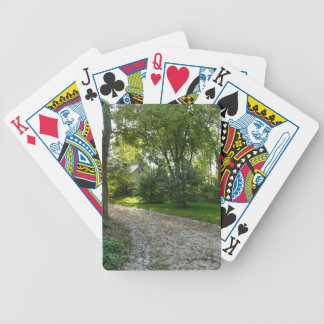 Path less travelled bicycle playing cards