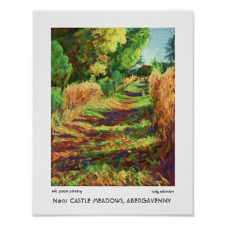 Path Near Castle Meadows, Abergavenny Print print
