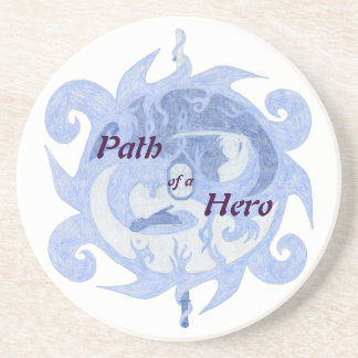 """""""Path of a Hero"""" Emblem (with title) Coaster"""