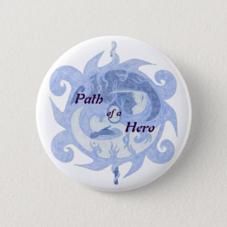 """""""Path of a Hero"""" Emblem (with title) Pinback Button"""