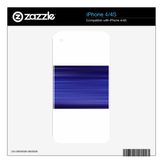 Path of blue lights iPhone 4 decal
