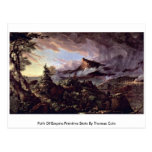 Path Of Empire:Primitive State By Thomas Cole Post Cards