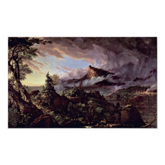 Path of empire:primitive state by Thomas Cole Poster