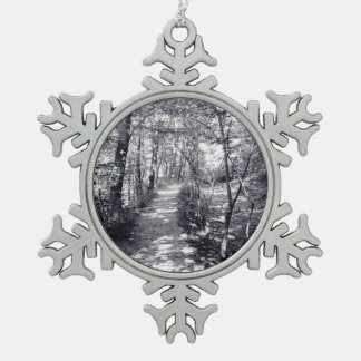 Path of Faith Snowflake Pewter Christmas Ornament