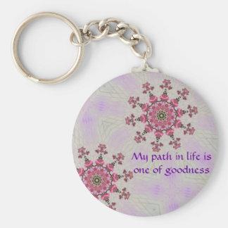 Path of goodness Key ring