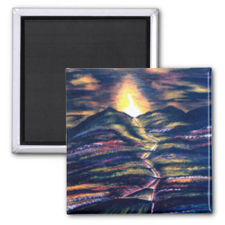 Path of Life 2 Inch Square Magnet
