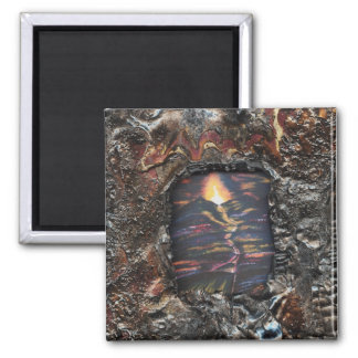 Path of Life Burnt Offering 2 Inch Square Magnet