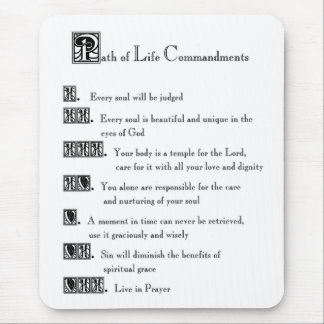 Path of Life Commandments Mouse Pad