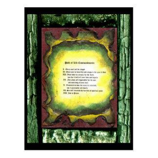 Path of Life Commandments Postcard