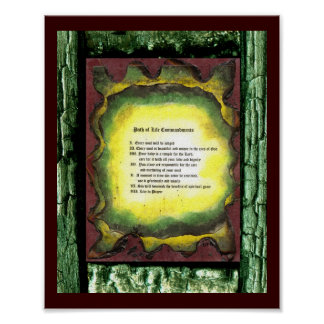 Path of Life Commandments Poster