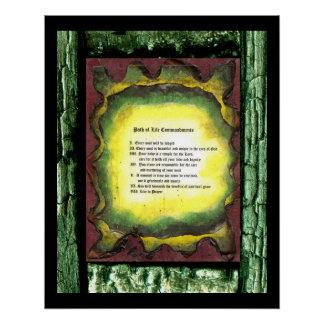 Path of Life Commandments Poster