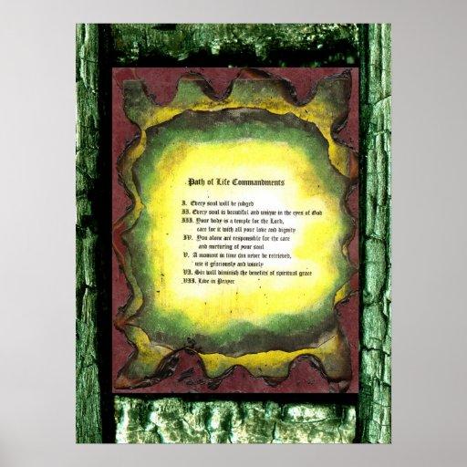 Path of Life Commandments Print