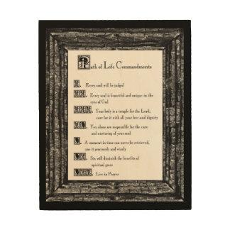 Path of Life Commandments Wood Canvas