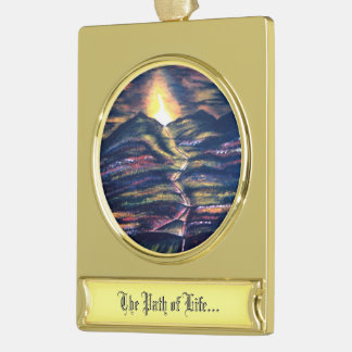 Path of Life Gold Plated Banner Ornament