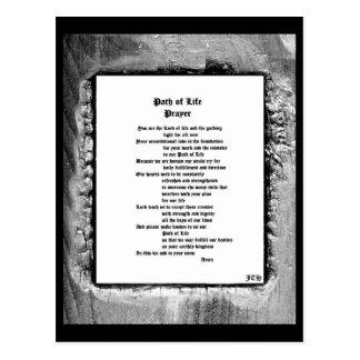 Path of Life Prayer Postcard