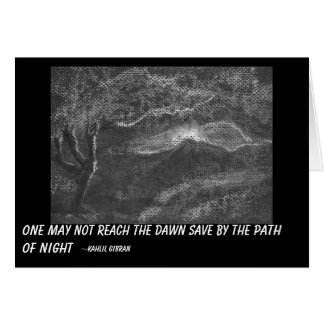 Path of night stationery note card