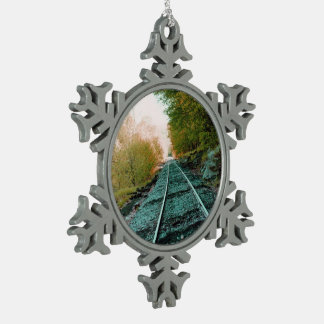 Path of Solitude Snowflake Pewter Christmas Ornament