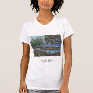 Path Of The Old Ferry  By Sisley Alfred Shirts