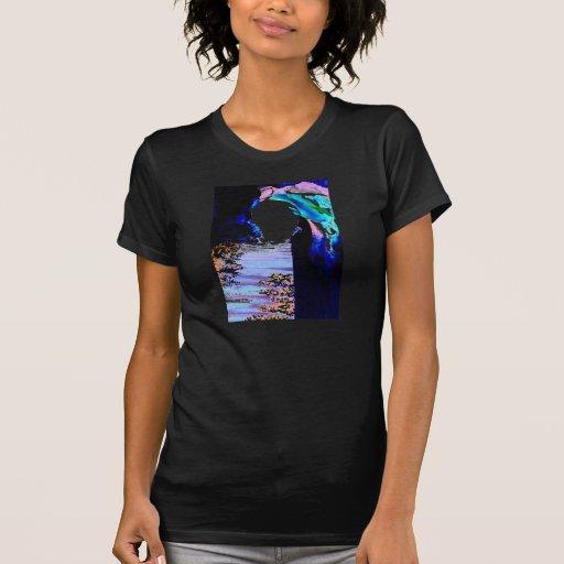 Path of the Rising Moon Women's Black Tshirt