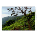Path on top of the Koolau Mountains Greeting Cards