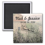 Path Signs Save the Date Magnet
