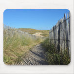 Path the dunes of Quiberon in France Mousepads