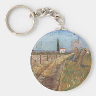 Path Through a Field with Willows 1888 Keychain