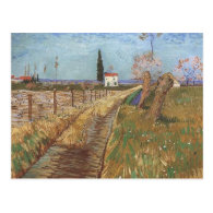 Path Through a Field with Willows 1888 Post Card