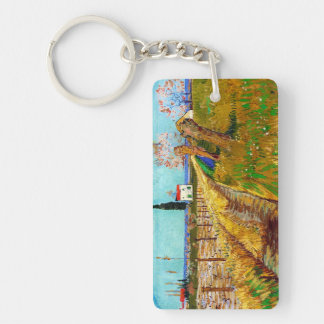 Path through a Field with Willows Van Gogh Keychain
