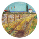 Path through a Field with Willows Van Gogh Dinner Plates
