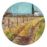 Path through a Field with Willows Van Gogh Plates