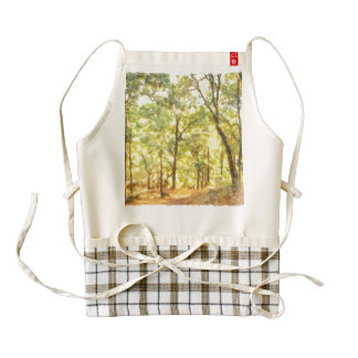 Path through a forest zazzle HEART apron