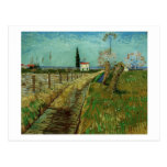 Path Through Field with Willows Van Gogh Fine Art Postcard