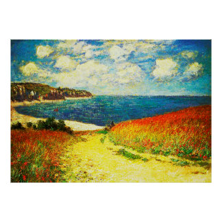 Path Through the Corn at Pourville, 1882 Posters