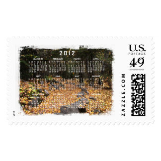 Path Through the Forest; 2012 Calendar Postage Stamp