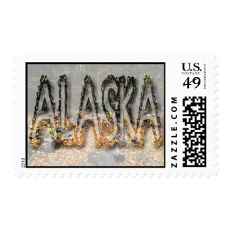 Path Through the Forest; Alaska Souvenir Stamps