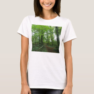 Path through the Green Forest Ladies T Shirt