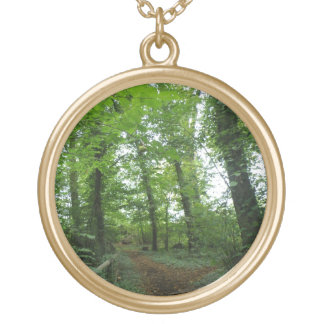 Path through the Green Forest Necklace