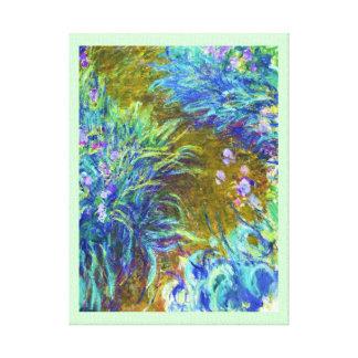 Path through the Irises Claude Monet Canvas Print