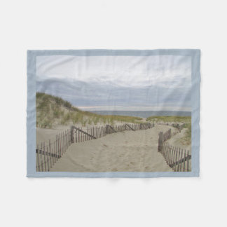 Path through the sand dunes to the beach fleece blanket