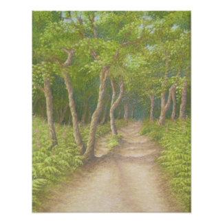 Path Through the Trees, Leith Hill Poster