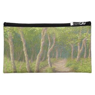 Path Through the Trees, Leith Hill, Surrey, Pastel Makeup Bag