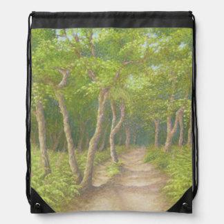 Path Through Trees, Leith Hill Drawstring Bag