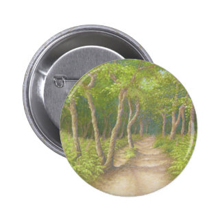 Path Through Trees, Leith Hill, Surrey Badge Pinback Button