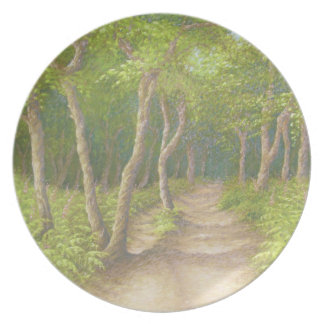 Path Through Trees, Leith Hill, Surrey Plate