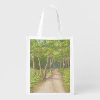 Path Through Trees, Leith Hill Surrey Reusable Bag